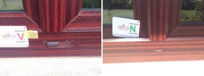 Fenster Rahmen Folie Renolit Verschub