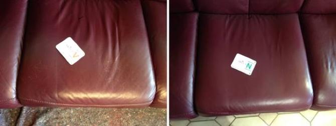 Leder Kratzer Sitzfläche