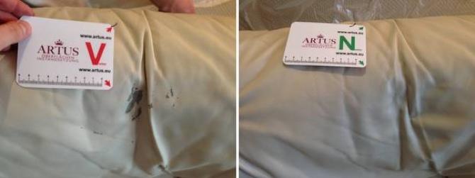 Leder Rückenlehne Ablösung Farbe