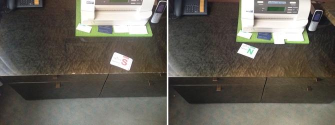 Tischplatte Abplatzung