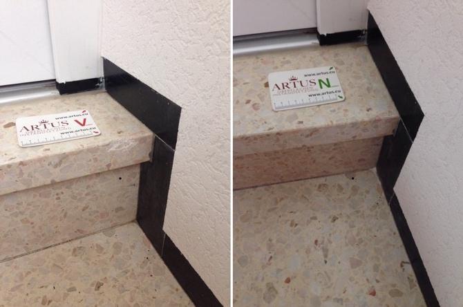 Treppe Stein Abplatzung